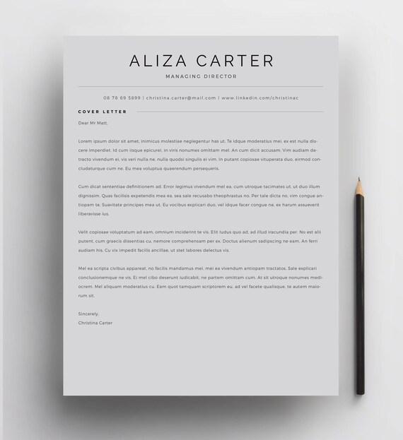creative resume template minimalist resume resume design etsy