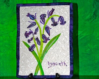 Hyacinth - Miniature Wall Quilt