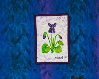 Purple Violet - Miniature Wall Quilt