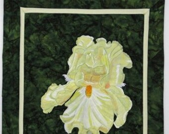 Yellow Bearded Iris - Wall Quilt