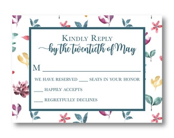 Wildflora Personalized RSVP Card