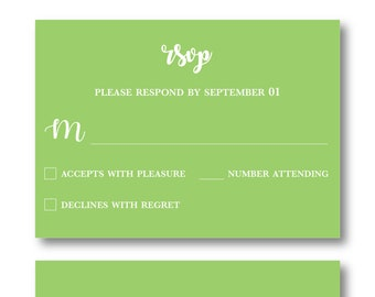 Color Punch Personalized RSVP Card