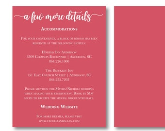 Wildflora Personalized Details Card