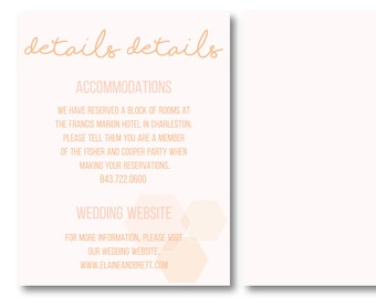 Sweet as Honey Personalized Details Card