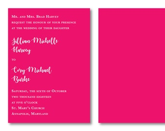 Color Punch Personalized Wedding Invitation