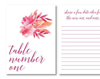 Let Love Bloom Personalized Interactive Table Number Option 1