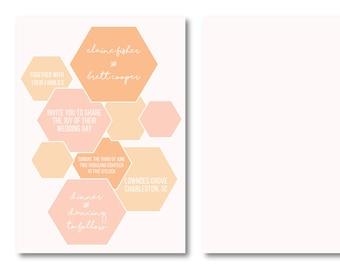 Sweet as Honey Personalized Wedding Invitation