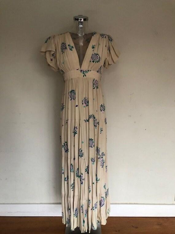 Vintage Ossie Clark dress with Celia Birtwell prin