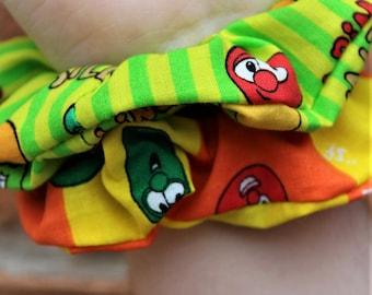 Veggies Tales Scrunchies / Church Camp / Cartoon / Bob / Larry / VSCO Girl / Party Favor / Gift Exchange / Scrunchie