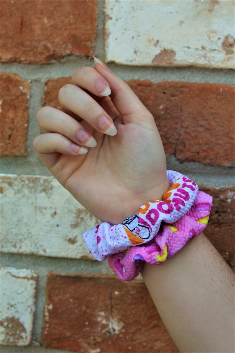 Dunkin Donuts Inspired Scrunchies / Scrunchie / Top Knot / image 0