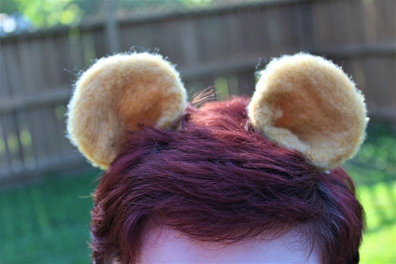 Bear Ears / Pooh Bear Inspired / Lion Ears / Hair Clips / image 0
