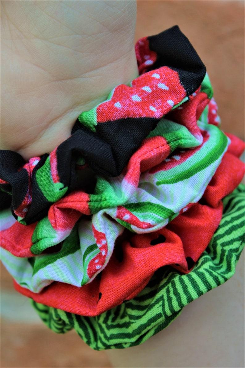 Watermelon Scrunchies / Scrunchie / Party Favor / Gift image 0