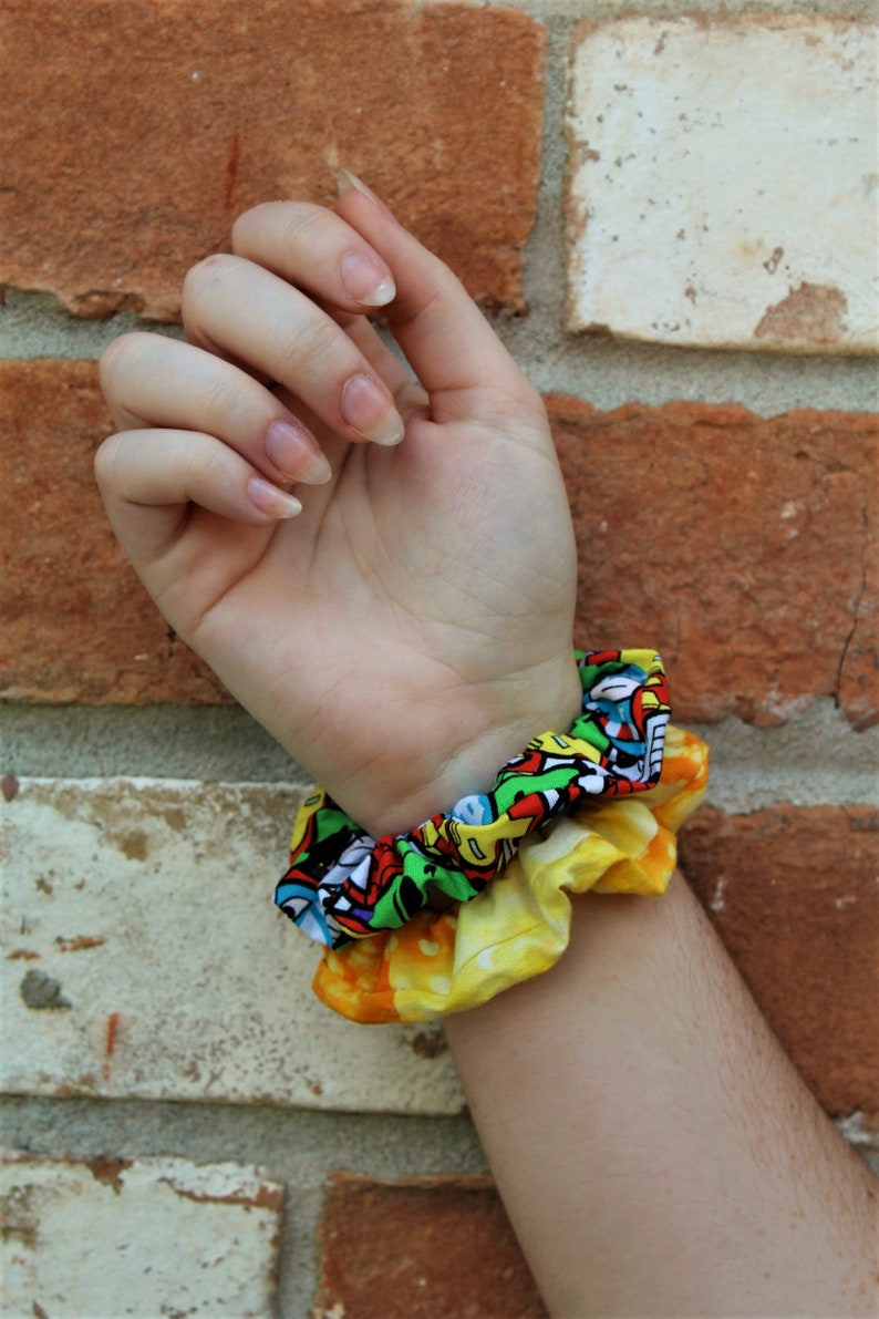 Avengers Inspired / Set of 2 Scrunchies / Scrunchie / Top Knot image 0