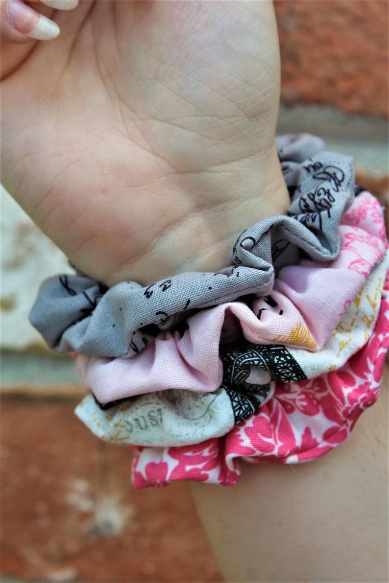 Victorian / Set of 4 Scrunchies / Scrunchie / Hair Tie / Messy image 0
