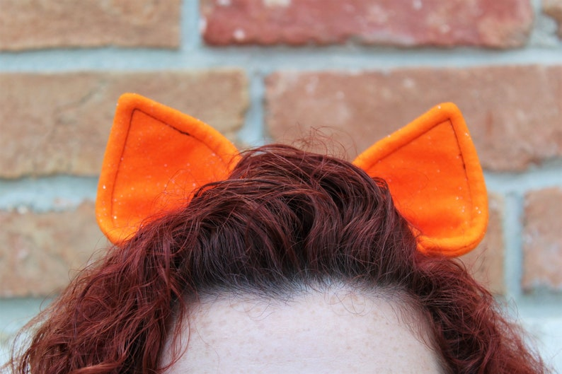 Orange Sparkle Cat Ears Hair Clips / Pony Ears / Cosplay / image 0