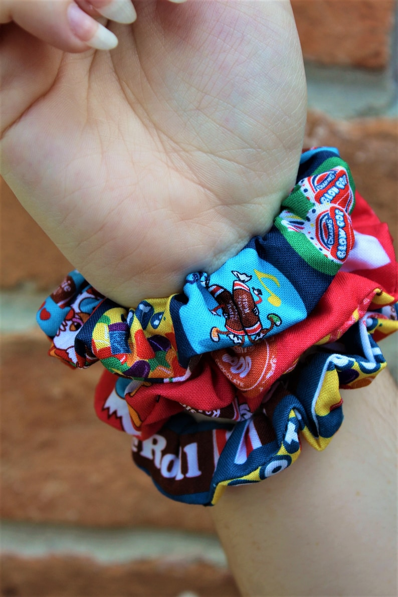 Tootsie Inspired Scrunchies / Red and Blue / Scrunchie / Candy image 0