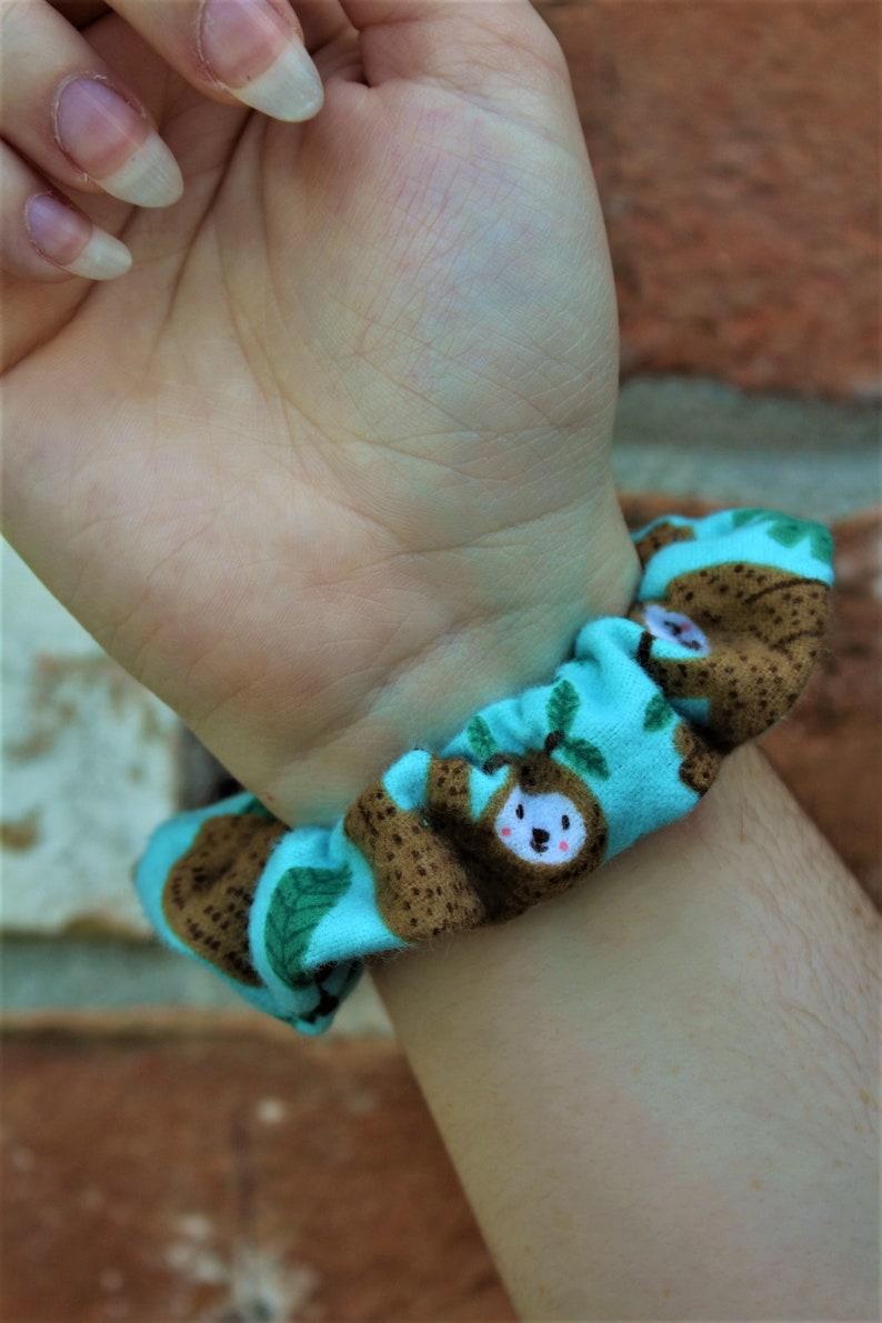 Sloth Scrunchies / Scrunchie / Hair Tie / Messy Bun / Party image 0
