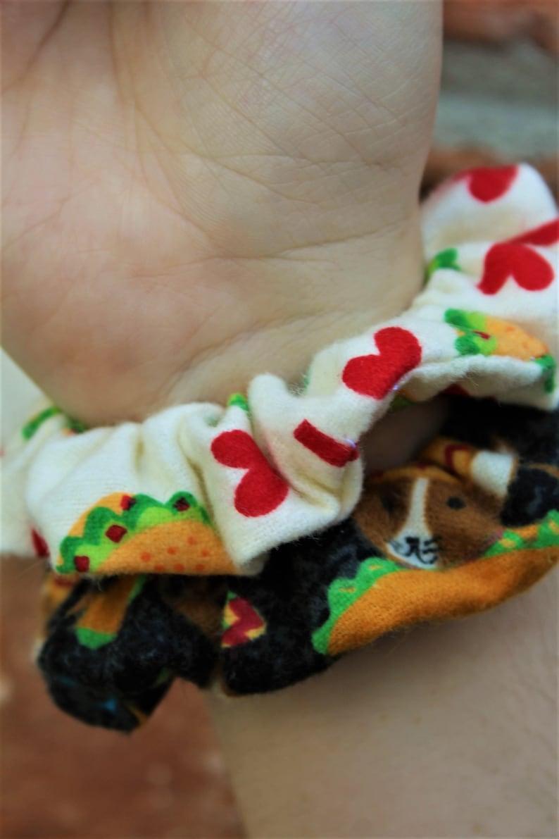 Taco Scrunchies / Chihuahua / Scrunchie / Taco Tuesday / Hair image 0