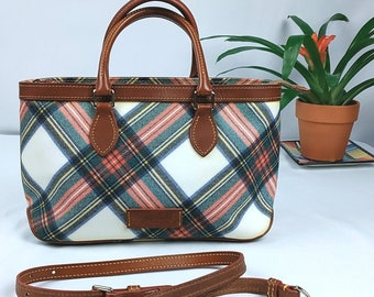 Dooney & Bourke Handbag Plaid Made in USA J2003353