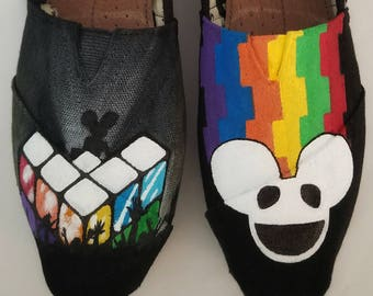Deadmau5 Hand Painted TOMS