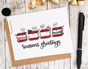 Season's Greetings Card // Christmas Cards // Holiday Cards // Holiday Greetings // Punny Cards // Christmas Puns