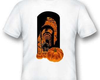 Scary Halloween cat tee shirt 05302016