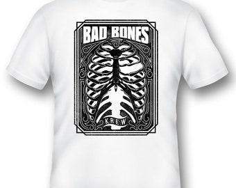 Bad Bones Krew white or black Tee Shirt