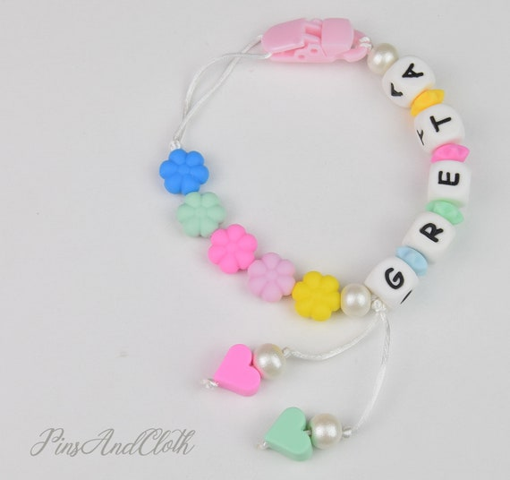 Silicone Teething Teether Bracelet Clip Chew Beads Baby Shower Gift L