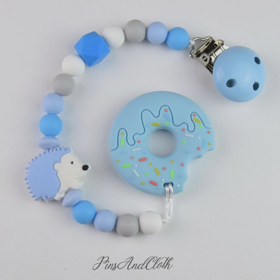 3 available Teething dummy chains blue