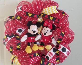 Mickey and Minnie Mesh Wreath
