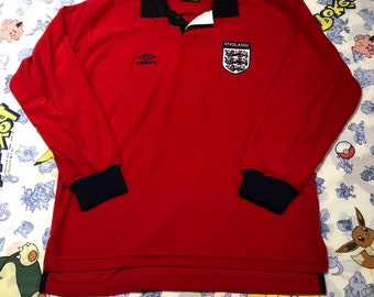 Vintage England Soccer Jersey Mens Size Large a6d1e4cb2
