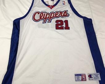 Reebok Authentic NBA Pro Cut Jersey Size 56 XXXL Los Angeles Clippers  Darius Miles 16699cfd7