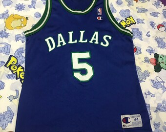 Vintage Champion NBA Dallas Mavericks Jason Kidd Jersey Size Large 44 c64e7a9a4