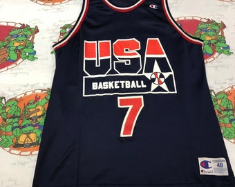 db21d4e8bbe7 Vintage NBA Olympic USA Dream Team Shawn Kemp Jersey Size XL 48