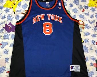 ed9e459e2 Vintage Champion NBA Latrell Sprewell New York Knicks Jersey Mens 52 XXL