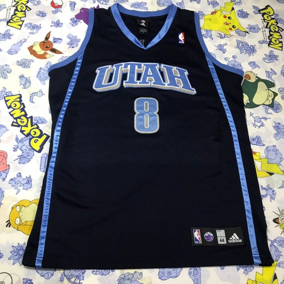 best website b38b6 b91bd Adidas NBA Authentic Pro Cut Utah Jazz Deron Williams Throwback Jersey Size  Large 44