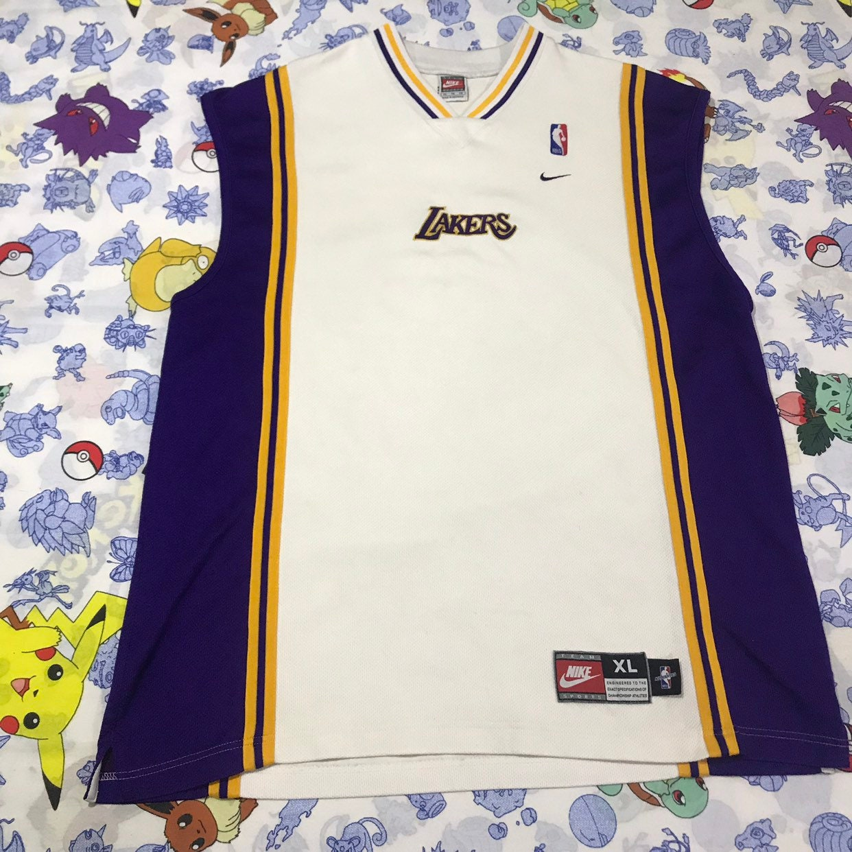 88b04a7a3314 Vintage Authentic Nike Team Jersey Los Angeles Lakers Warm Up