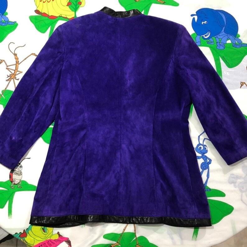 Vintage 90/'s Danier purple Suede blazer Hillary Banks Size Large