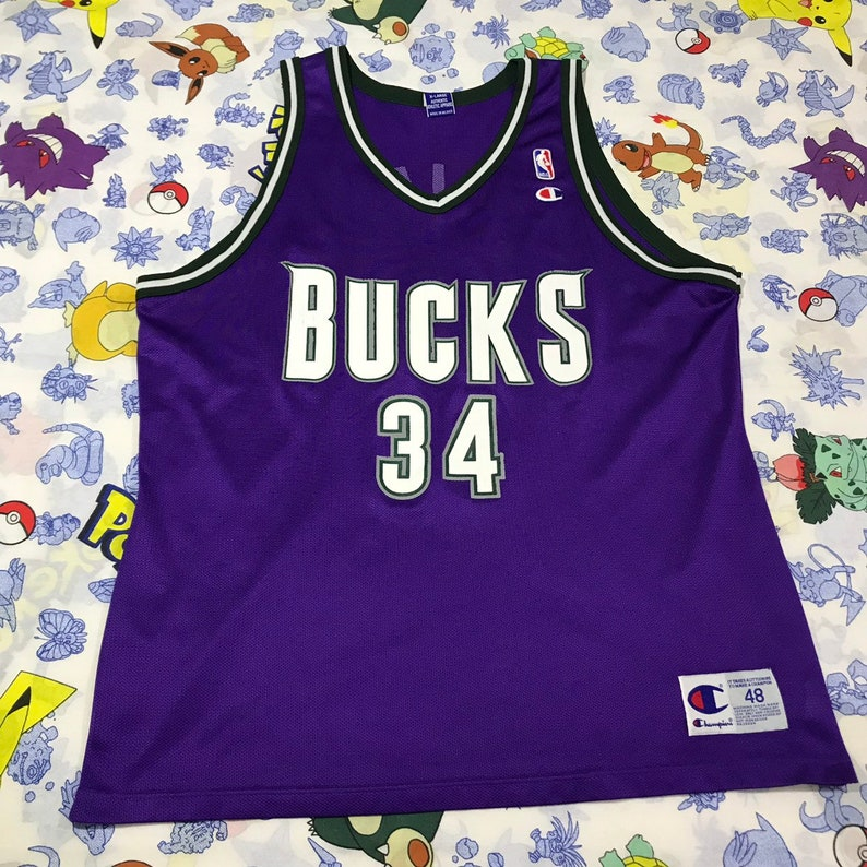 cheap for discount b9566 52ef6 NBA Champion Jersey Milwaukee Bucks Ray Allen XL 48