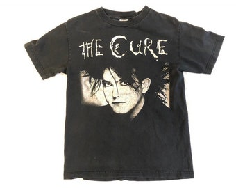 a4e2c10ea14 The Cure Band Shirt VTG 90s Robert Smith Tshirt Vintage Rare Boot Rock  Music Tee Lovesong Small Y2K