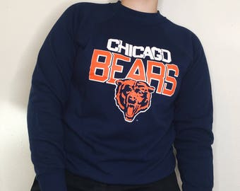 Vintage 80s Chicago Bears Sweater NWOT 1980s Dead Stock NFL VTG Crewneck  Trench Tag 373a66de7