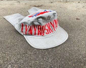 46e6b3392b366 Vintage Lynyrd Skynyrd Hat 1982 80s Southern Rock Band Rare Merch Vtg Flag Music  Cap