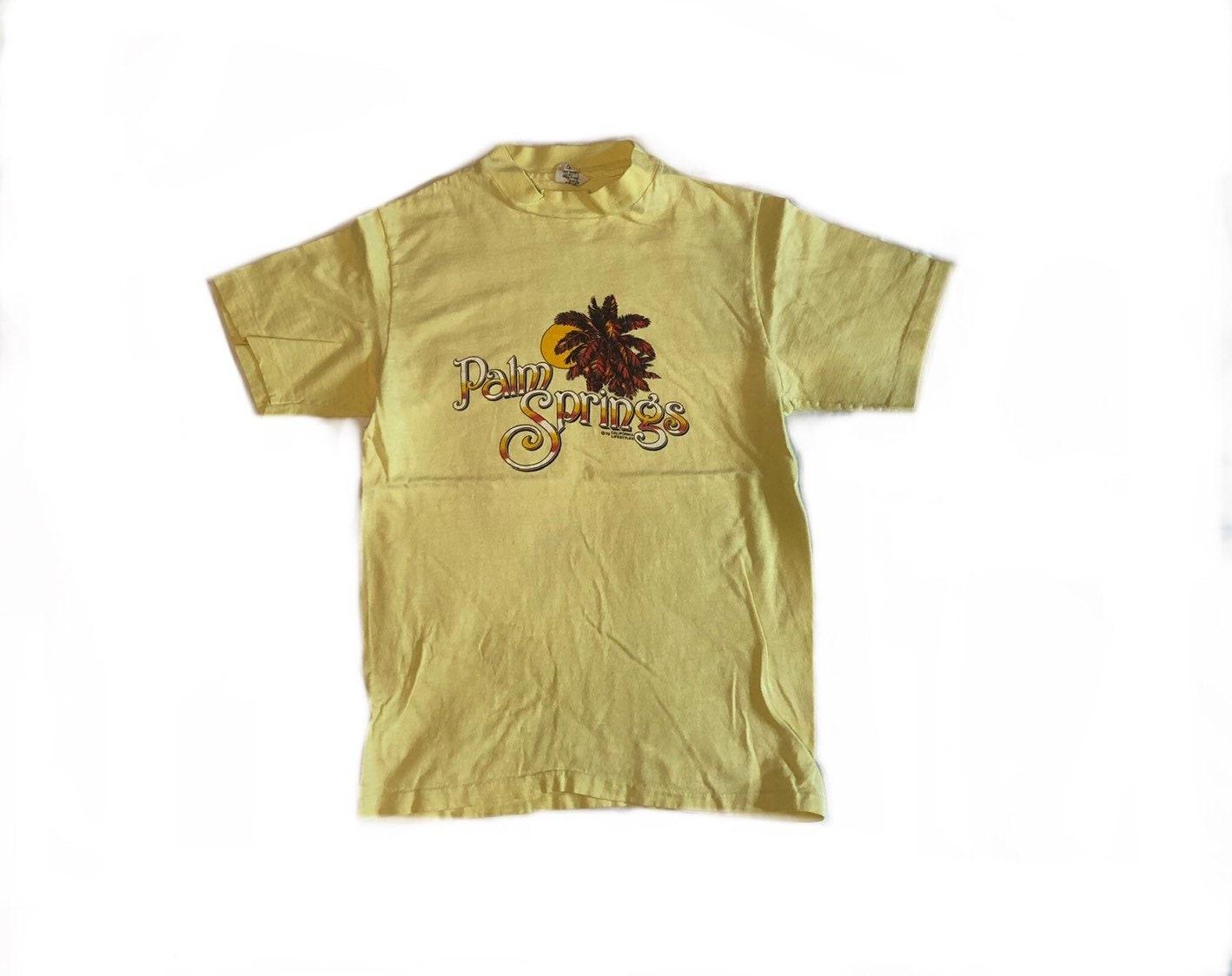 Palm Springs chemise VTG 1979 touristique Tshirt Vintage des des Vintage années 70 en Californie T-Shirt Hanes Tag Made in USA seul point petite 2b0ea7