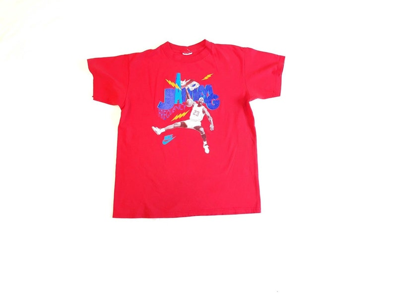8ebbbc8d2191 Michael Jordan Shirt VTG 90s Nike Air Jordan Tee Frequency Jamming TShirt  VTG Ba... Michael Jordan Shirt VTG 90s Nike Air Jordan Tee Frequency  Jamming ...