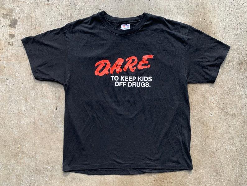 To Keep Kids Off Drugs Shirt Vintage 80s Single Stitch Official DARE Tshirt VTG Pop Culture Unisex Adult Size XL D.A.R.E