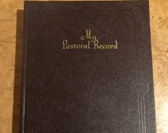 Hardback Not Used Pastoral Record/Journal/Ledger