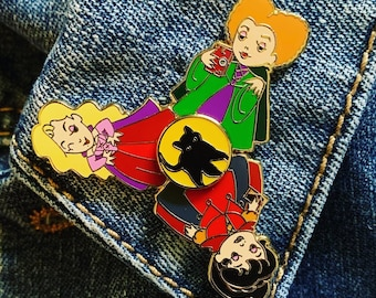 Salem Sisters Hard Enamel Flip Pin