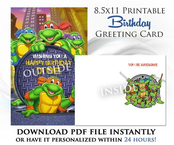 Items Similar To Teenage Mutant Ninja Turtles Printable Digital