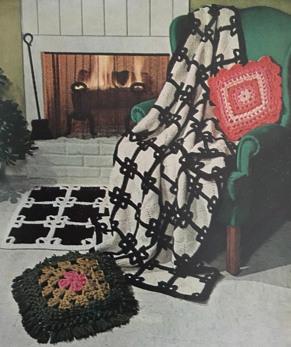PDF Crochet Pillow And 2 Rugs