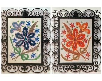 PDF Embroidery Blue And Orange Cattleyas (Intermediate)